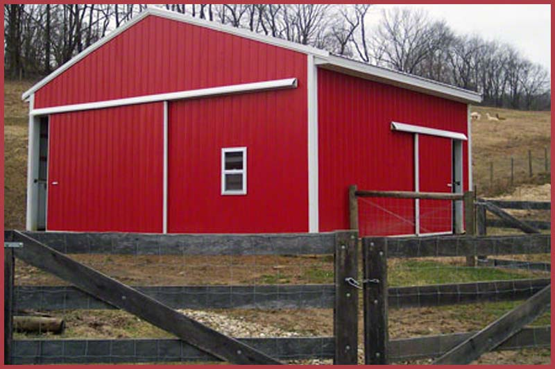Steel Buildingsbarns Red