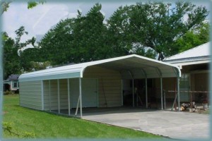 Steel buildings sheds and weatherking for Carport shop combo