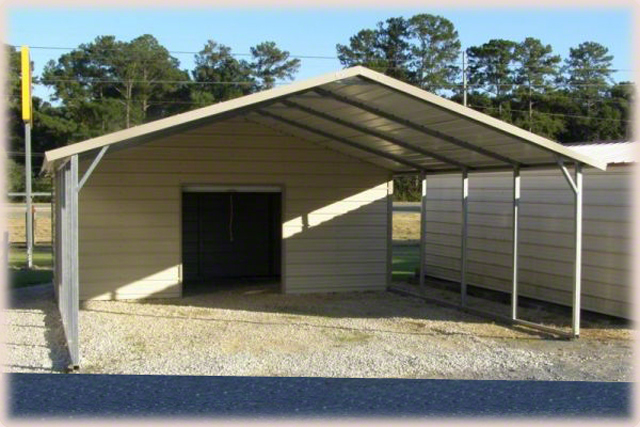 Steel buildings and weatherking for Carport shop combo