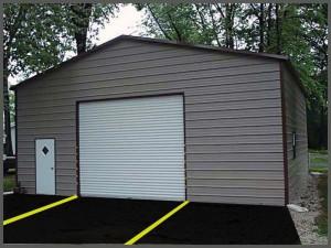 Steel Buildings Garage workshop Type one entry and one roll up Door