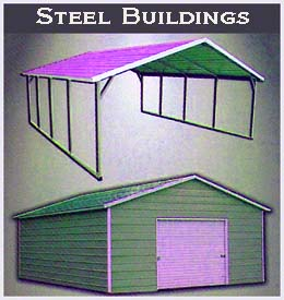 Steel Buildings carport and garage Example