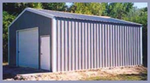 Steel Buildings A-Frame Vertical Style Garage