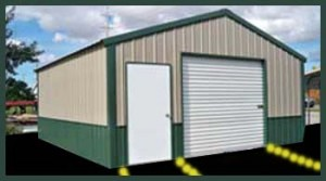 A-Frame Garages Steel Buildings A-Frame Style Garage two Tone Tan on Green