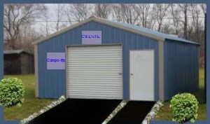 Steel Buildings A-Frame Style Garage